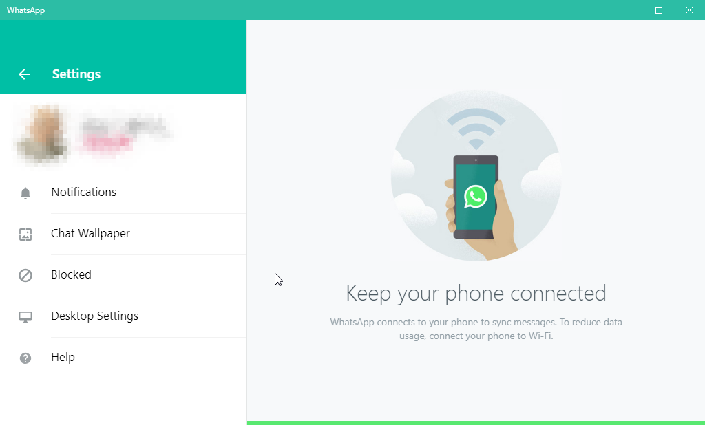 thumbapps.org WhatsApp portable, Settings