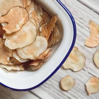 Healthy Jerusalem Artichoke Crisps.