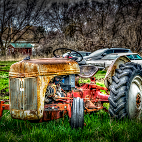 Lonely Tractor by Anthony Balzarini - Artistic Objects Other Objects ( #hdr, #washington, #photography, #spokane, #tractor,  )