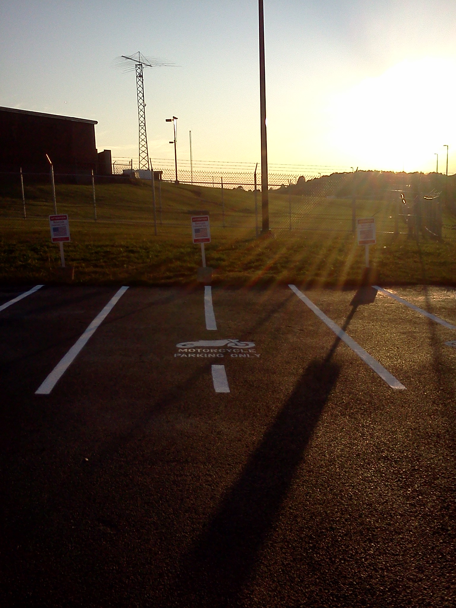 Photo: Motorcycle Parking by AAA Stripe Pro