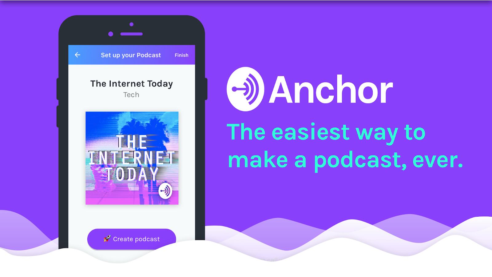 Resultado de imagem para anchor podcast