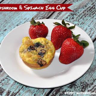 Portobello Mushroom & Spinach Egg Cups.