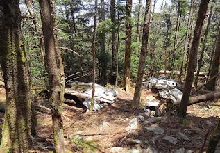 Photo: Plane Wreck near top