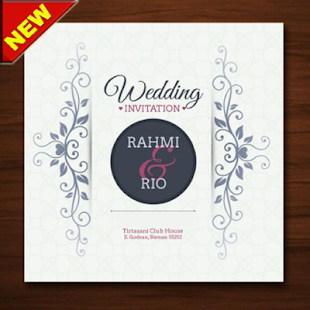 The latest wedding invitation design - náhled