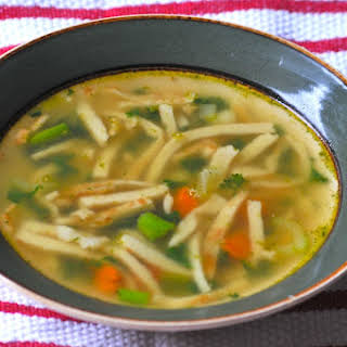 Ingredients (serves 4) German Flaedle Soup.