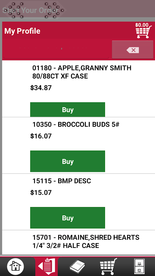 Bix Produce Checkout- screenshot