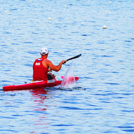Canoeing - II by Joatan Berbel - Sports & Fitness Watersports ( watersports, movement, sports, canoe, colorfull )