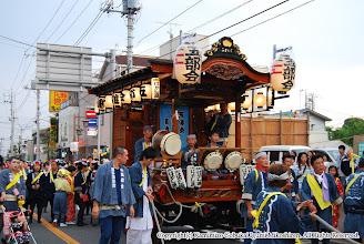 Photo: 【平成19年(2007) 宵宮】 宵宮の山車の運行を開始。