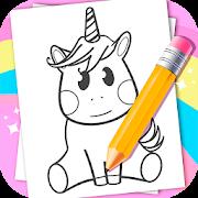 How To Draw Unicorns by Piu Piu Apps icon