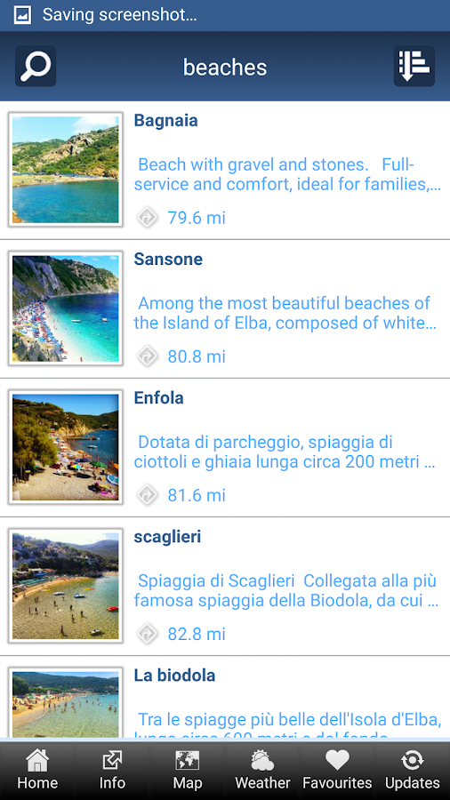 Isola d'Elba App- screenshot
