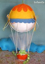 Photo: Αερόστατο Μαΐστρος! Διαστάσεις είναι: ύψος, (από το μπαλόνι μέχρι το καλάθι) 21 εκατοστά περίπου και μήκος (μπαλονιού) 12 εκατοστά.