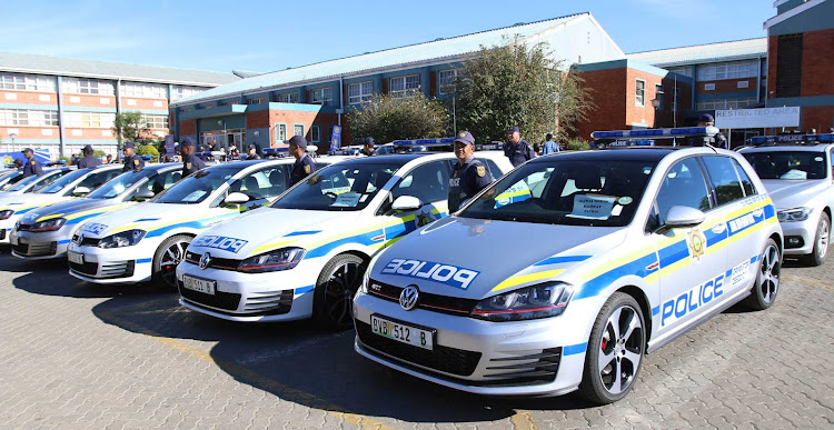A file picture of the flying squad vehicle handover that took place last year