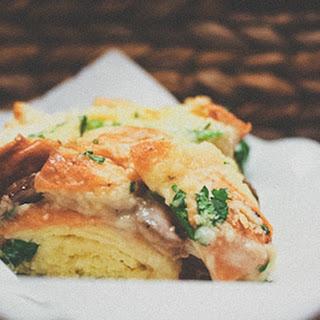 Annie's Mushroom Bread Pudding