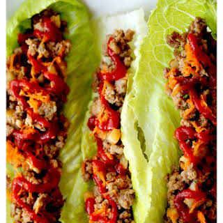 Sesame Turkey Lettuce Wraps.