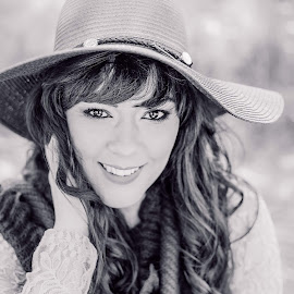 Happy by Lizelle Engelbrecht - Black & White Portraits & People