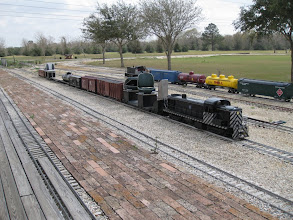 Photo: Gil Freitag's and Peter Bryans train parked at the station.  2009-0227