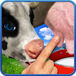 Cow milking Icon