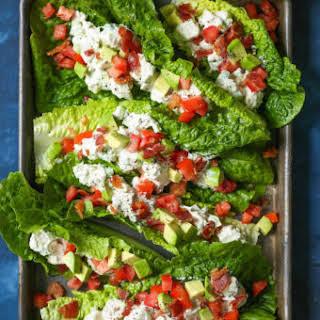 Chicken Salad Lettuce Wraps.