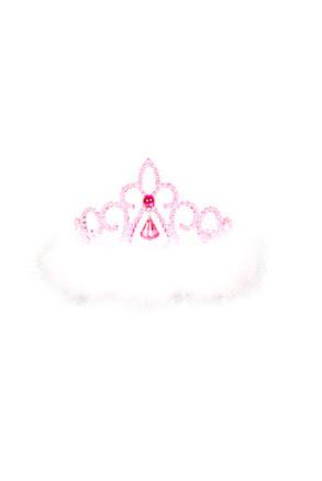 Tiara med rosa sten
