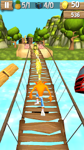 Subway crash runner: bandicoot & n-sane trilogy 3D - náhled