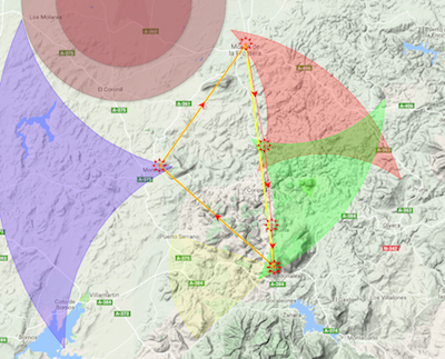 Example map of Flymaster tracking