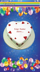 Write Name on Cake – Birthday & Anniversary - náhled