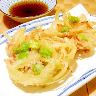 Edamame and Sakura Shrimp Kakiage Tempura