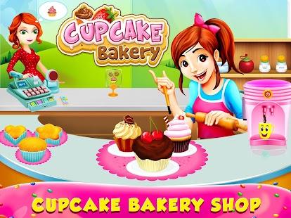 Cupcake Bakery Shop - Kids Food Maker Games