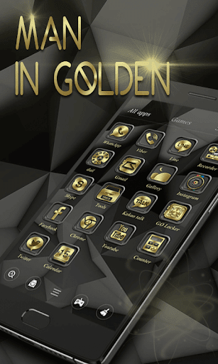 Man In GoldenGO Launcher Theme