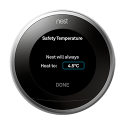 UK safety temperature screen