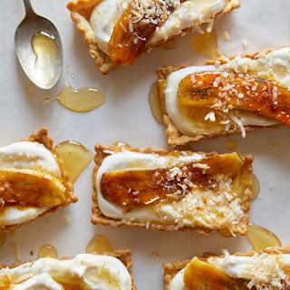 Banana, Coconut and Honey-Cream Tarts Recipe