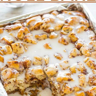 Pumpkin Cinnamon Roll Bake