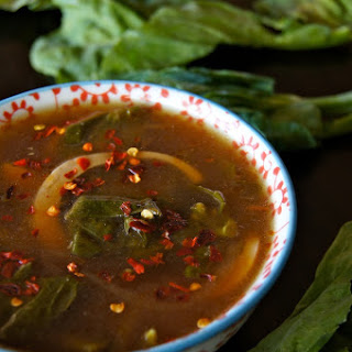 Miso Gai Lan Egg Soup