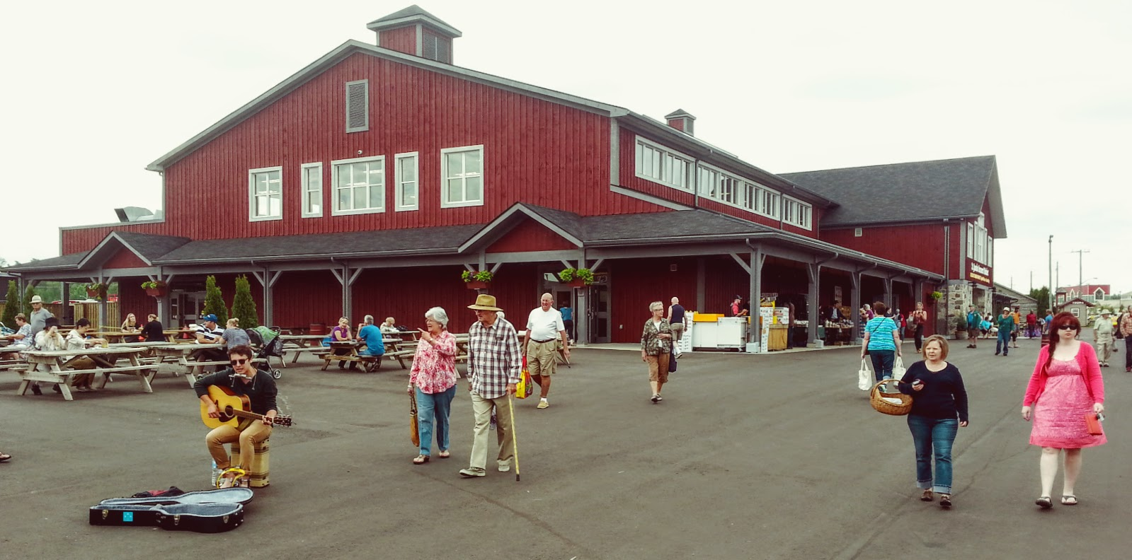 The new barn at St. Jacobs Farmers Market