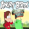 Angry birds falls down