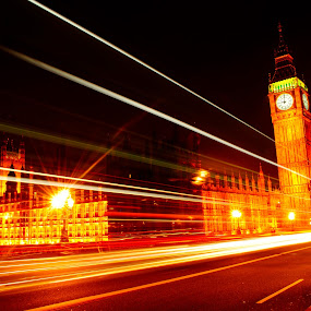 houses of parliament by Tyler Sleap - Buildings & Architecture Other Exteriors ( exposure, united, house, ben, long, of, parliament, time, england, kingdom, westminister, thames, london, night, bridge, big, river )