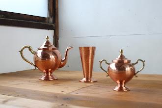 Photo: #0038 アラビアティーを銅製茶具で召し上がれ