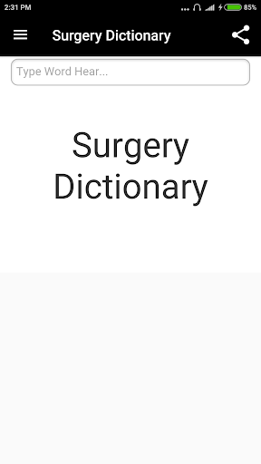 Surgery Dictionary screenshot for Android