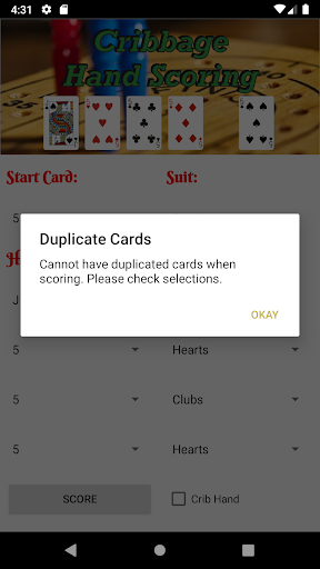 Cribbage Scoring - screenshot