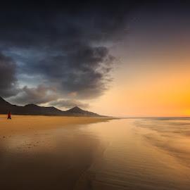 Cofete by Ryszard Lomnicki - Landscapes Cloud Formations ( cloud, sunrise, longexposure, cofete, sunset, fuerteventura,  )