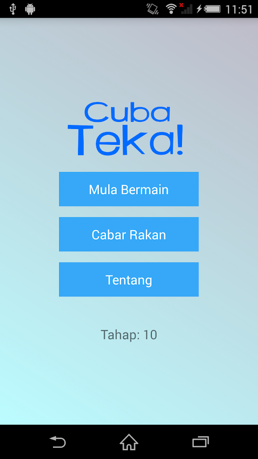 CubaTeka! Hangman in Malay- screenshot