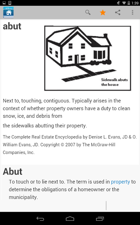 Real Estate Dictionary- screenshot