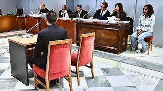 Sala de vistas durante las declaraciones de los agentes de la Guardia Civil.