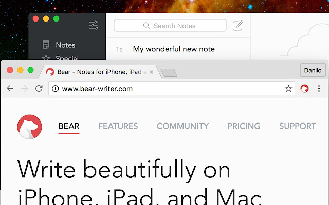 Bear Chrome extension