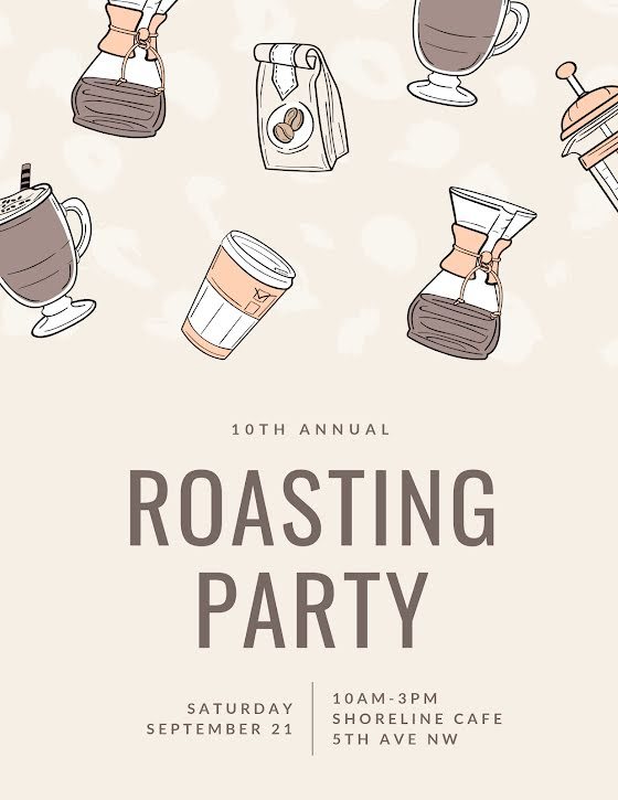 10th Annual Roasting Party - Flyer Template