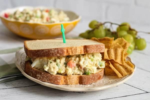 Grandma Dee's Tuna Egg Salad Sandwich.