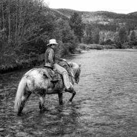 Banner's Crossing by Twin Wranglers Baker - Black & White Street & Candid (  )