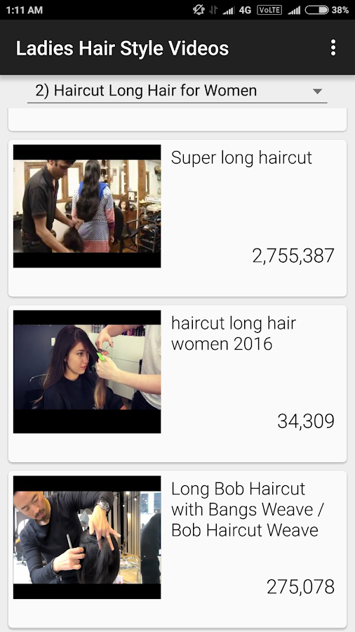 Surprising Ladies Hair Style Cuttingvideo Android Apps On Google Play Hairstyles For Women Draintrainus