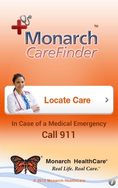 Monarch CareFinder- screenshot