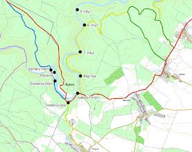 Photo: Mapa oblasti Devíti mlýnů